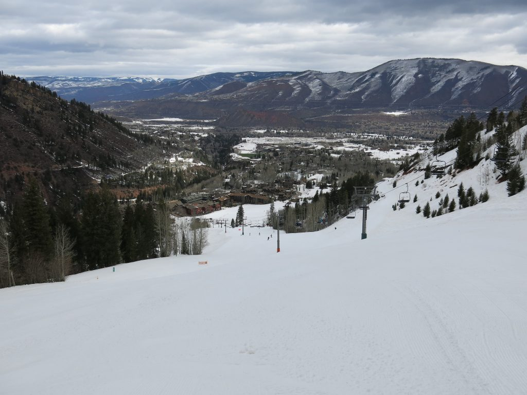 Aspen Highlands base, March 2016