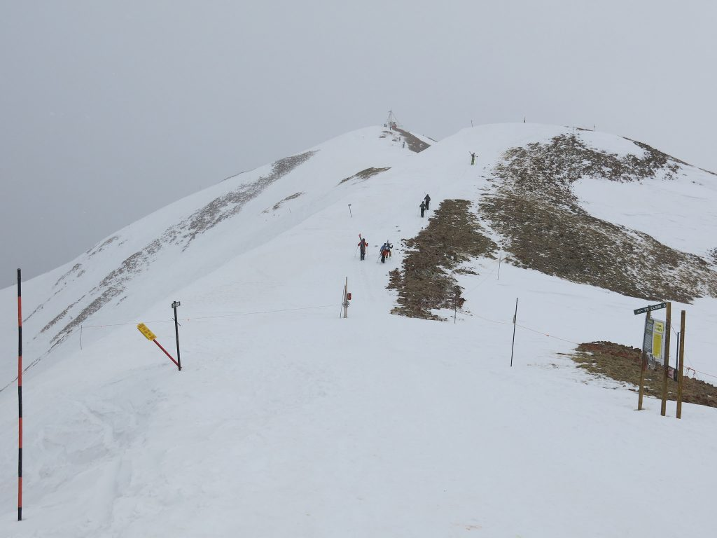 Hike up to the top of Highlands Bowl, March 2016