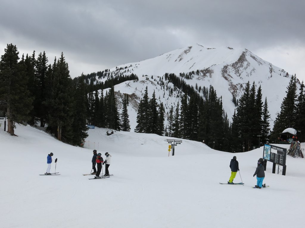 Top of lift-served terrain at Aspen Highlands, March 2016