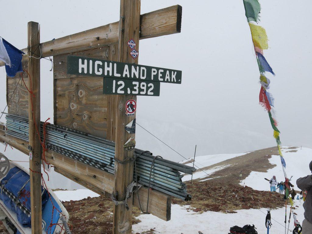 Top of Aspen Highlands, March 2016