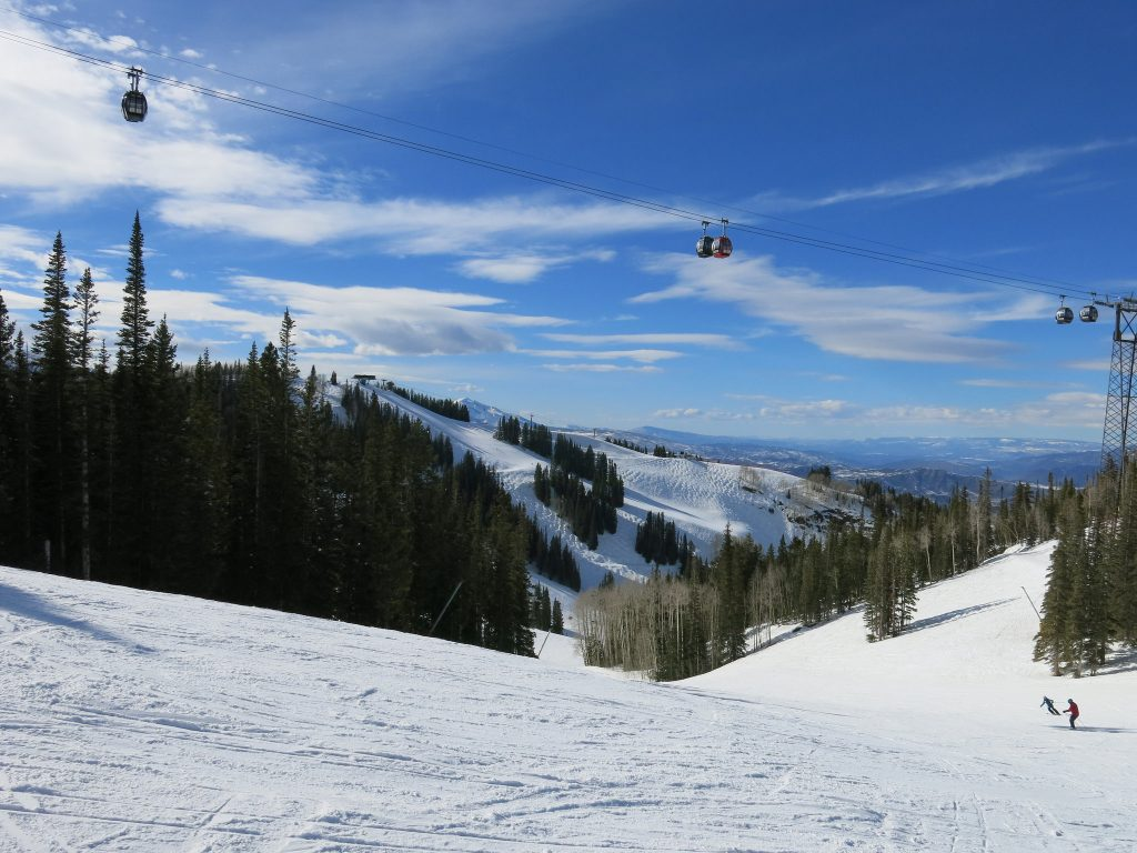 View of F.I.S. and the Gondola at Aspen Mountain, March 2016