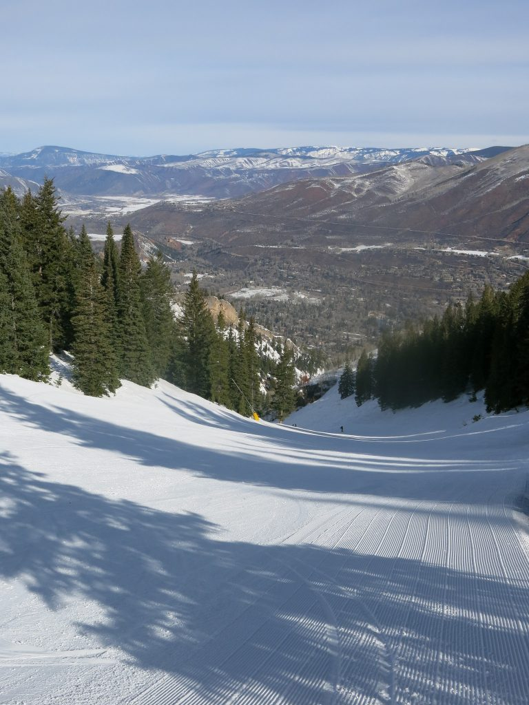 Nice grooming at Aspen Mountain, March 2016