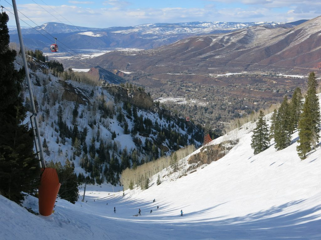 Copper Bowl at Aspen Mountain, March 2016