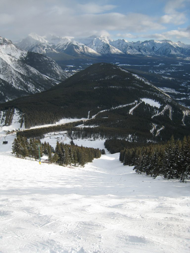 Top of North American lift, Mt. Norquay, December 2007