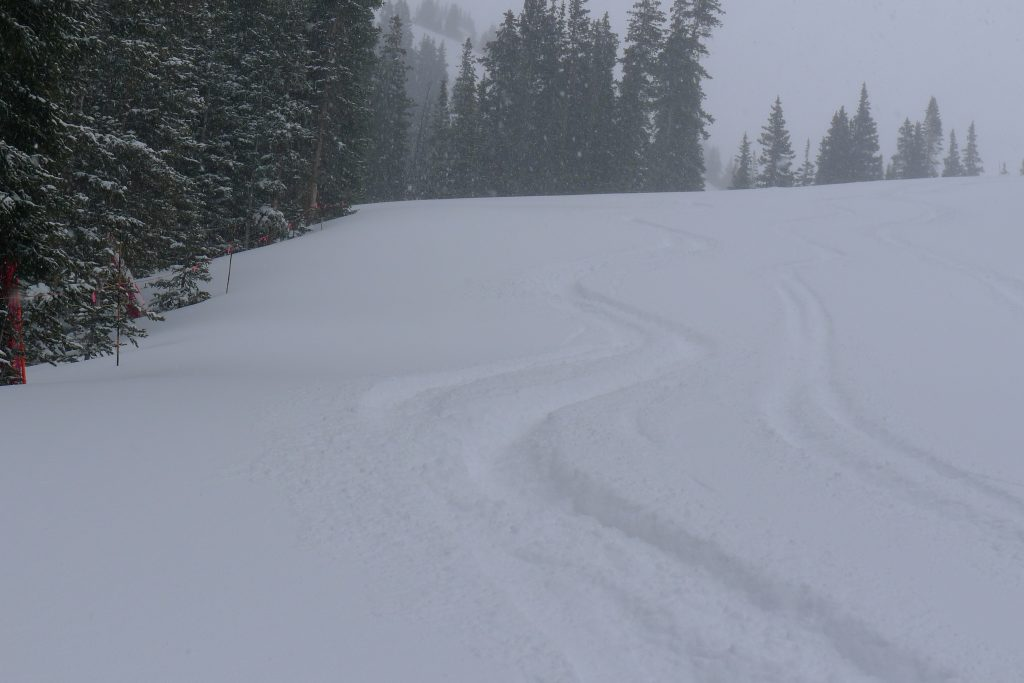 Powder turns at Loveland, December 2014
