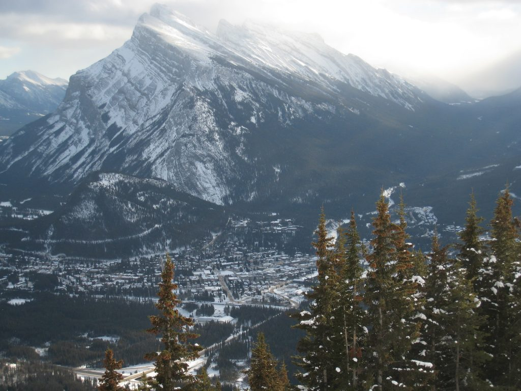 Banff view from Mt. Norquay, December 2007