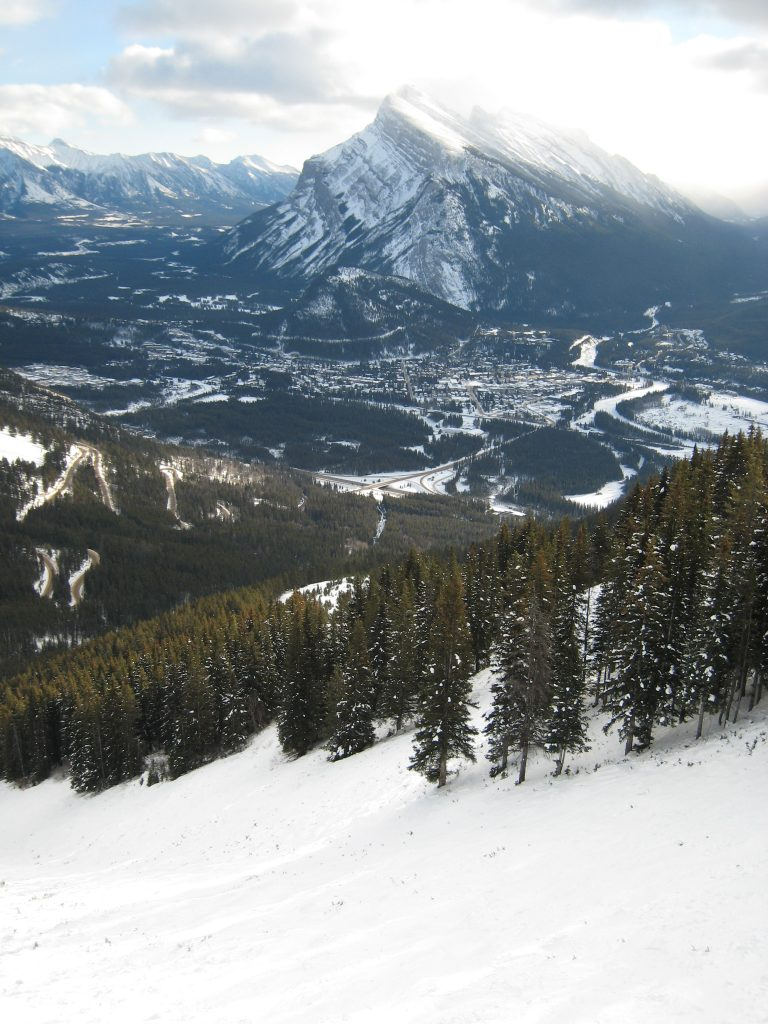Great view from Mt. Norquay, December 2007