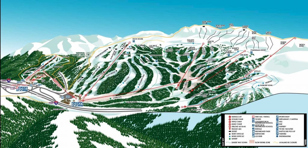 Loveland Trail Map - North facing 2015/16