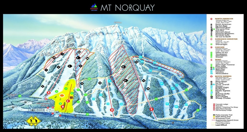 Mt. Norquay trail map