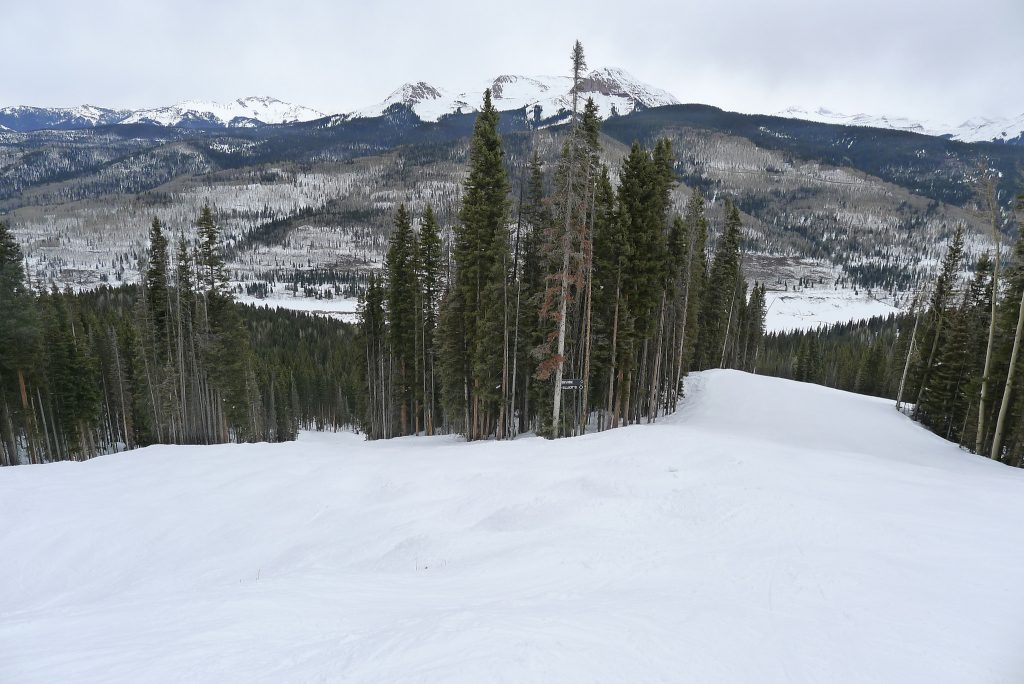 Black runs at Purgatory, March 2016