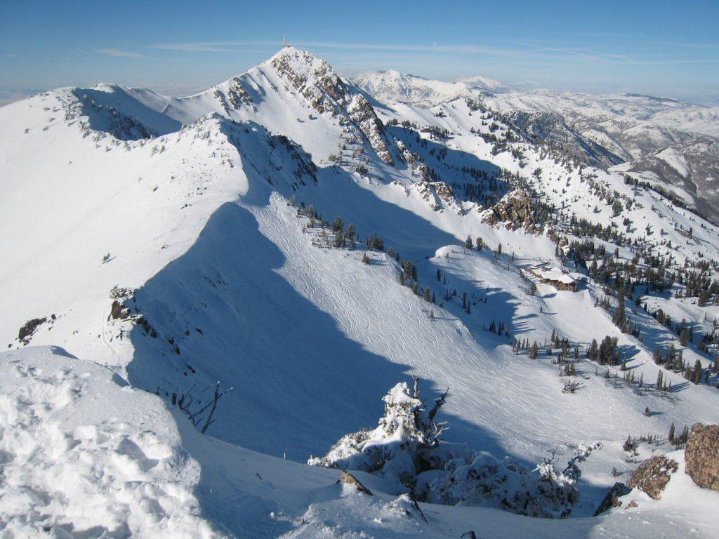 Ridge top view at Snowbasin, February 2008