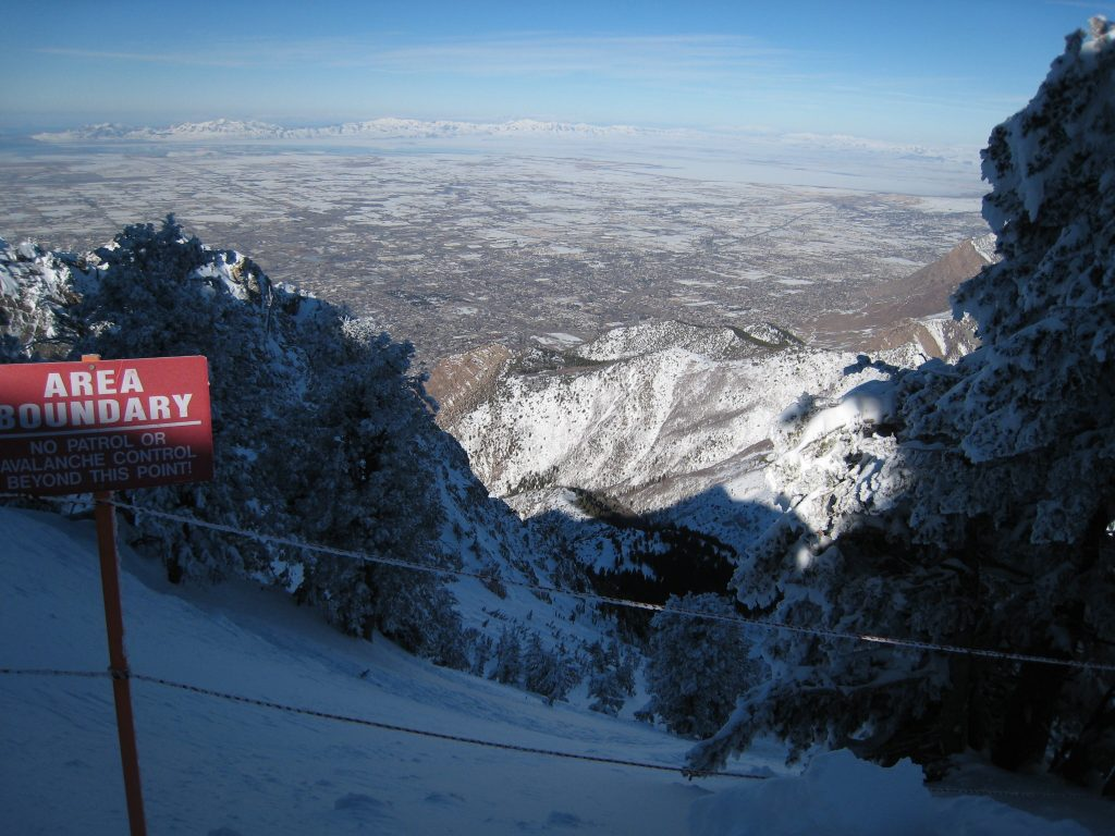 View of Ogden from the top of the tram at Snowbasin, February 2008