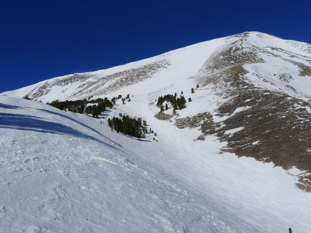 Liberty Bowl at Big Sky from below, January 2014
