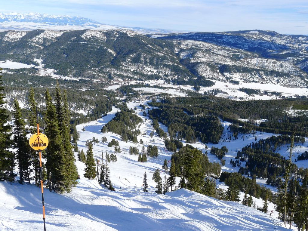 View from top of Bridger Lift at Bridger Bowl, January 2014