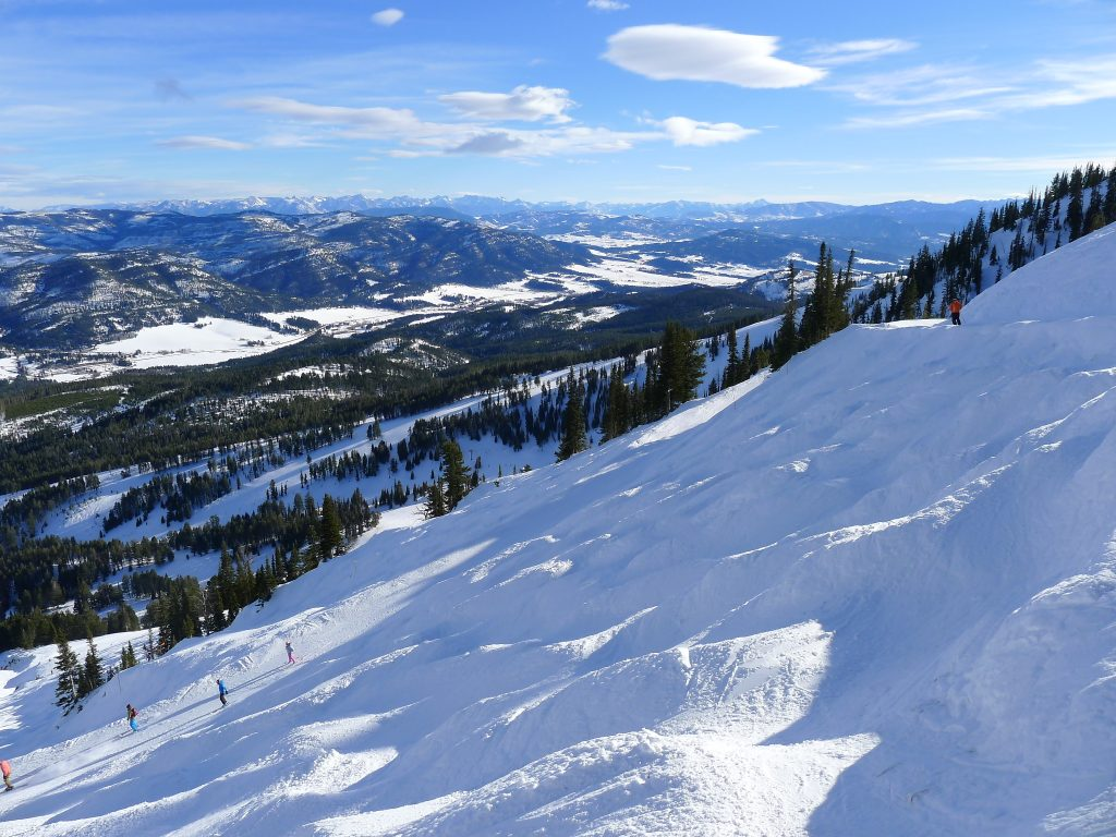 Bumps at the top of the Bridger lift, Bridger Bowl, January 2014