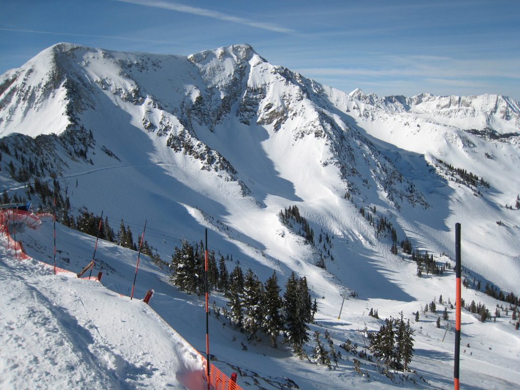 Twin Peaks and the Gad Valley at Snowbird, February 2013