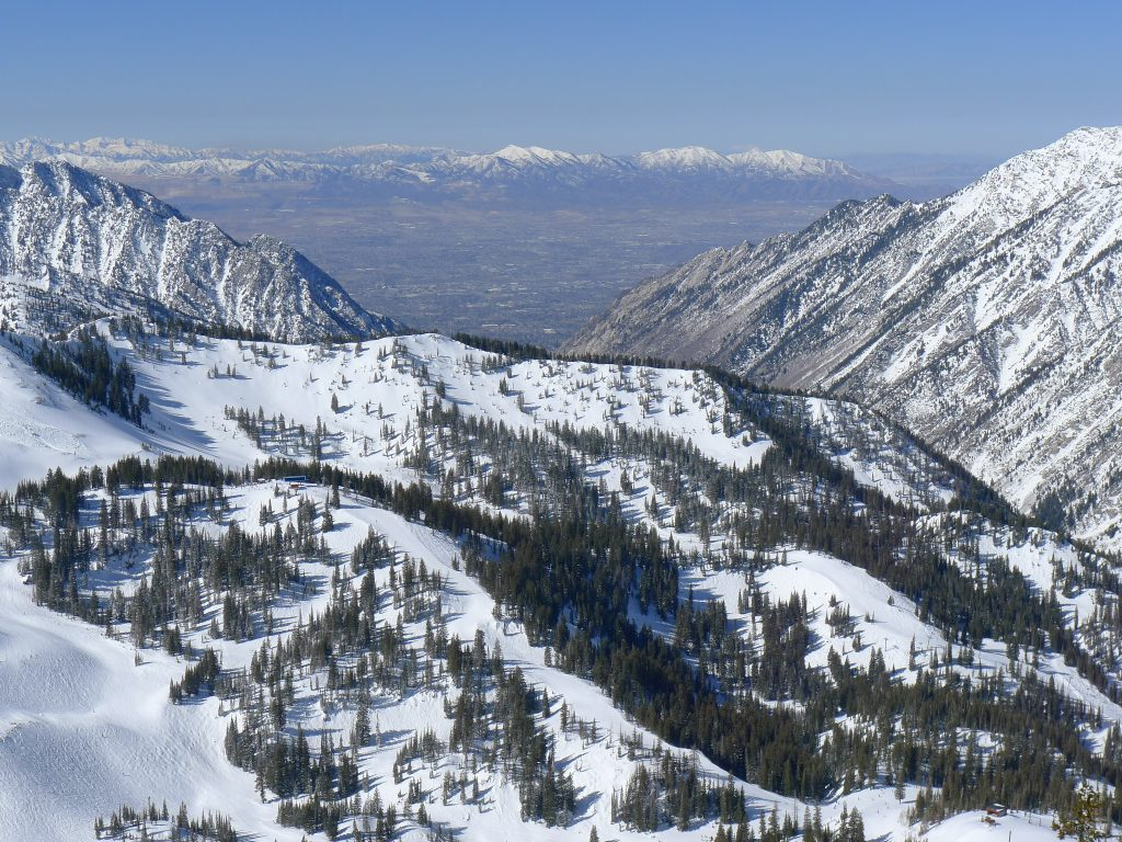 View of Salt Lake from Snowbird, March 2014