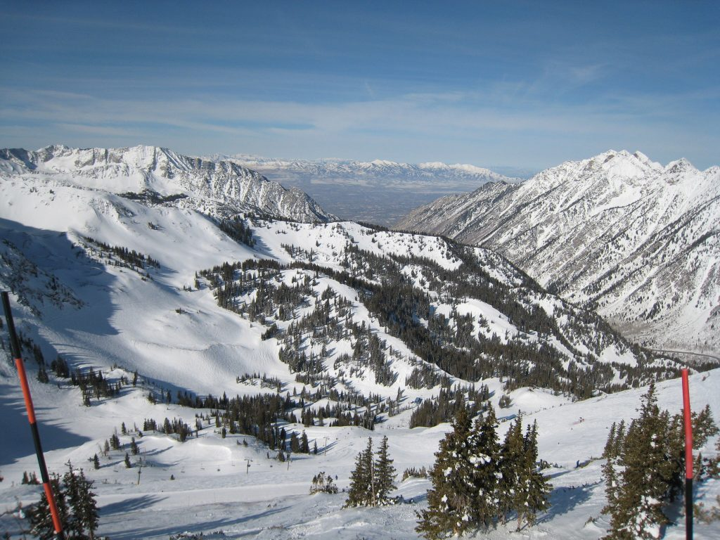Looking west from the top of Snowbird, February 2013