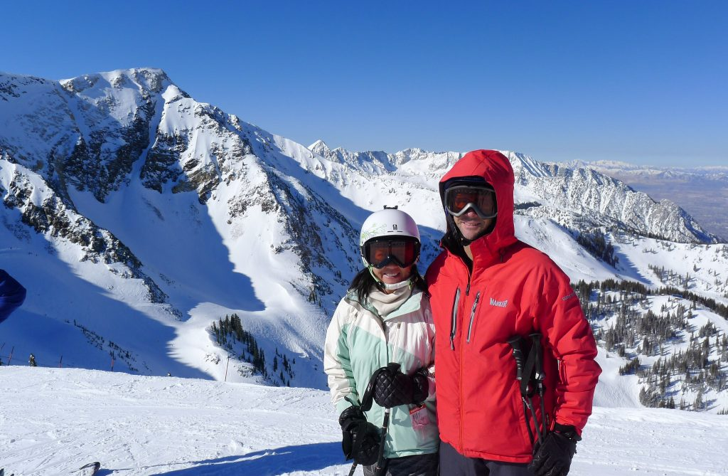 Us at the top of Snowbird, February 2014