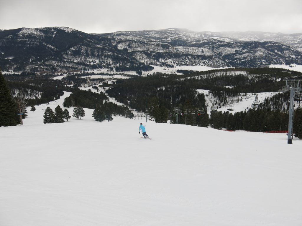 Groomer at Bridger Bowl, December 2016