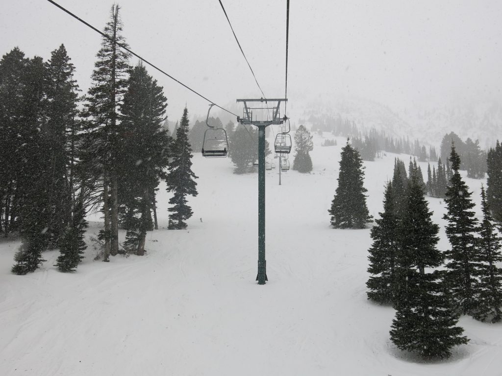 Schlashman's Lift at Bridger Bowl, December 2016