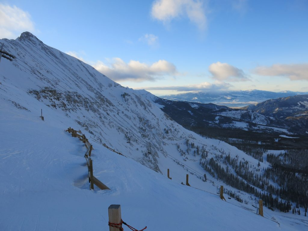 View from the top of Challenger at Big Sky, December 2014