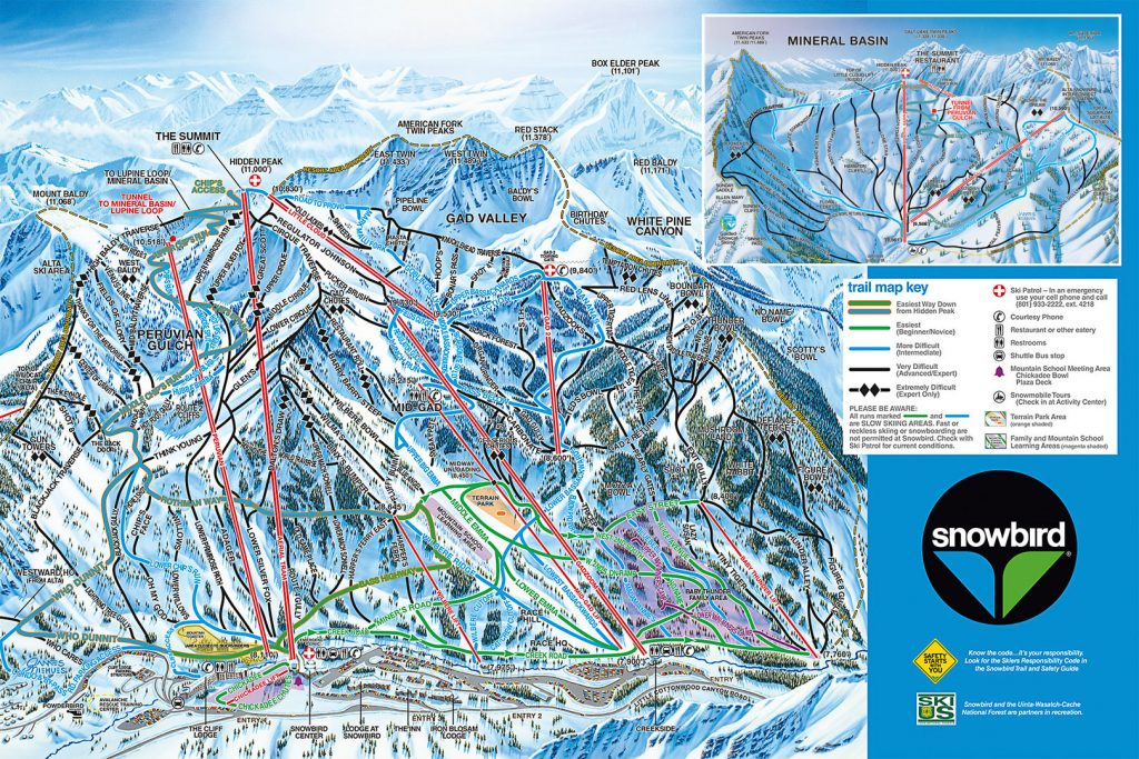 Snowbird trail map 2016/17