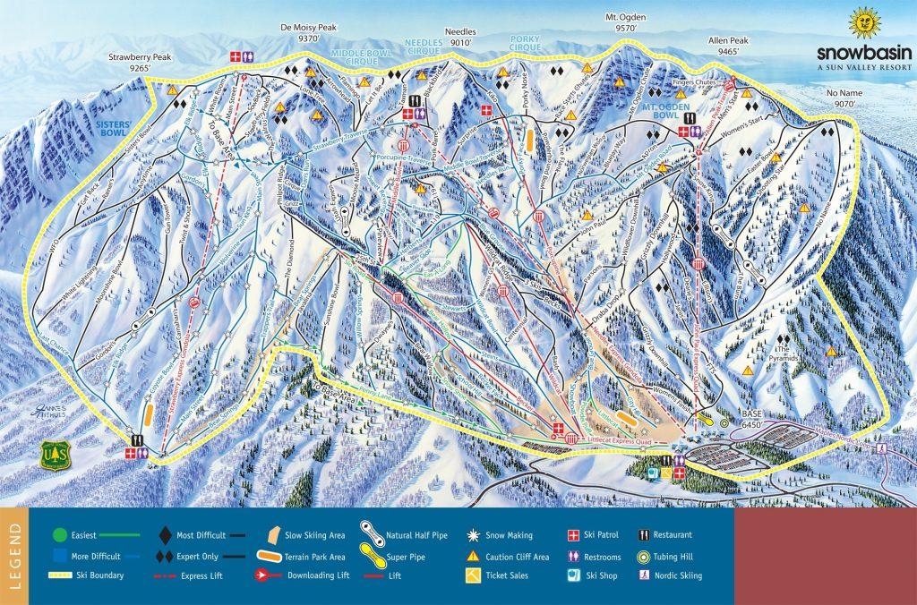Snowbasin Trail map 2014/15