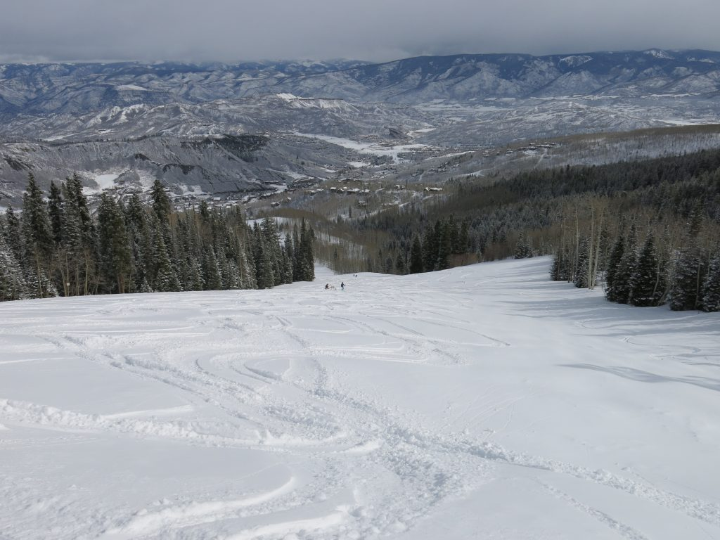 Lower mountain terrain at Snowmass, March 2016