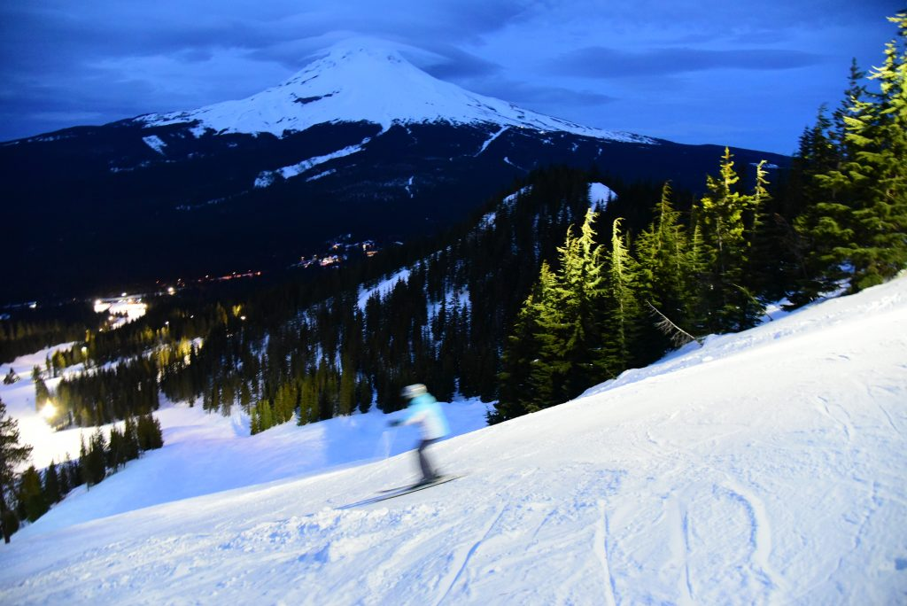 Mt. Hood Skibowl night skiing