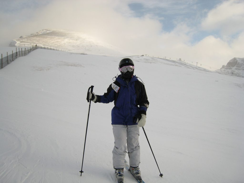 Near the top of Lookout Mountain at Sunshine Village, December 2007