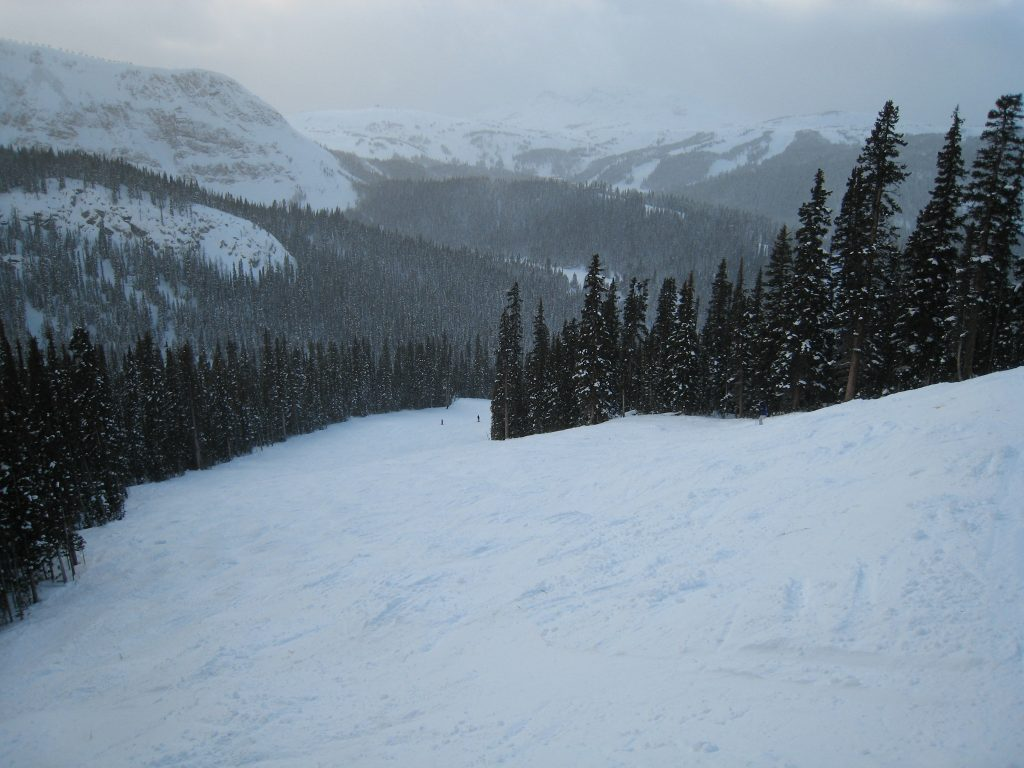Sunshine Village intermediate terrain off Goat's Eye, December 2007
