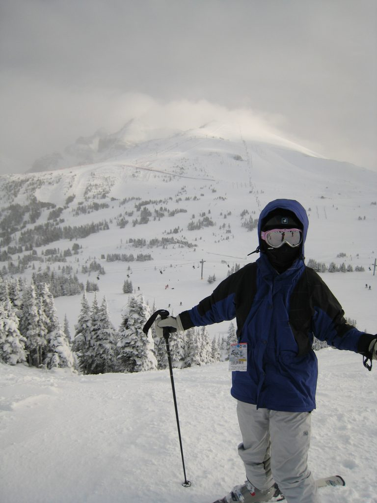 View of Lookout Mountain at Sunshine Village from Mt. Standish, December 2007