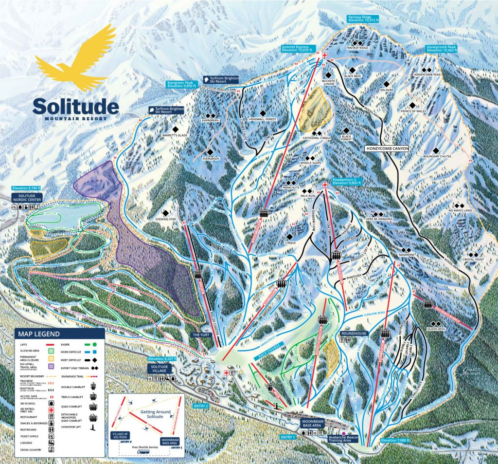 Solitude Trail map, 16/17 season
