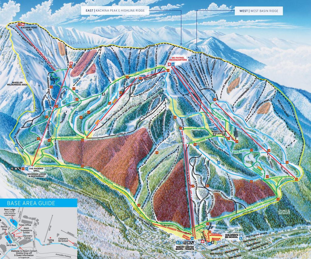 Taos Trail Map 2015