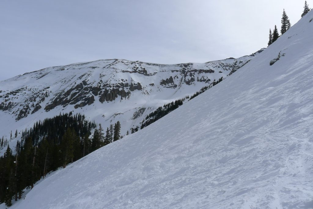 Gold Hill from Prospect Express at Telluride, March 2015