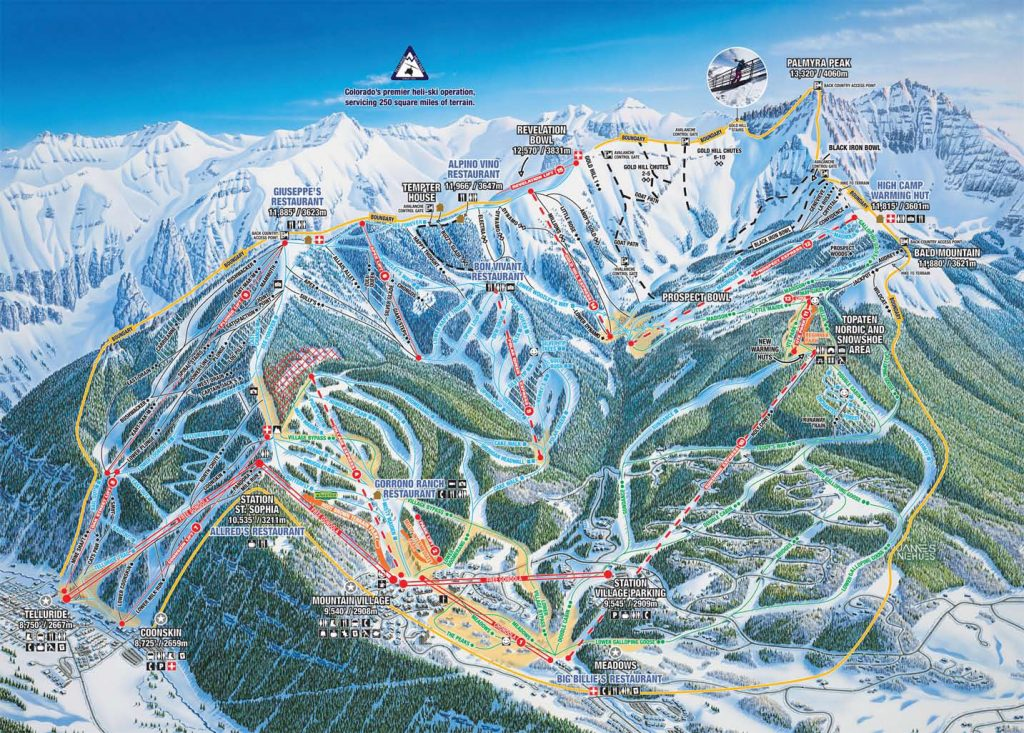 Telluride Trail Map 2012-2017