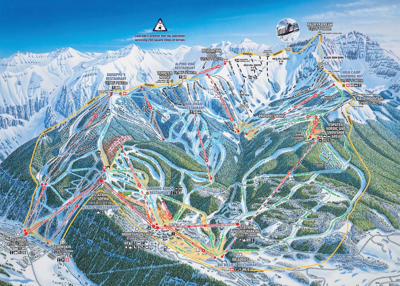 telluride trail map . telluride colorado  ski north america's top  resorts project