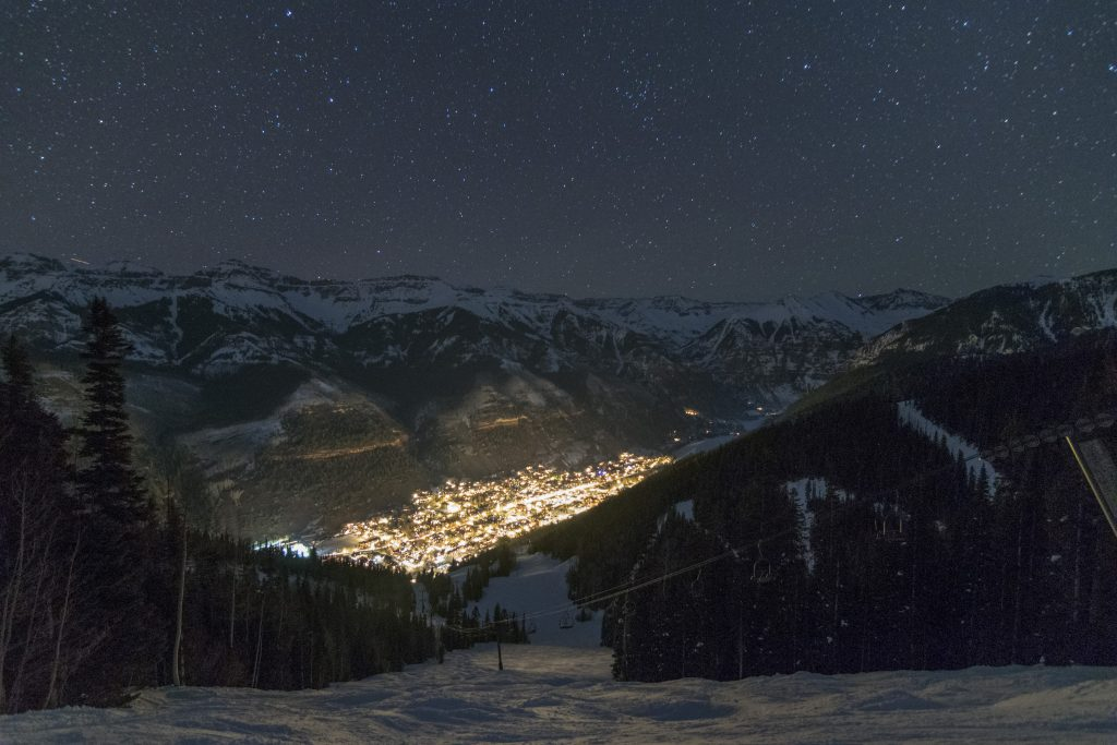Telluride at night, March 2015