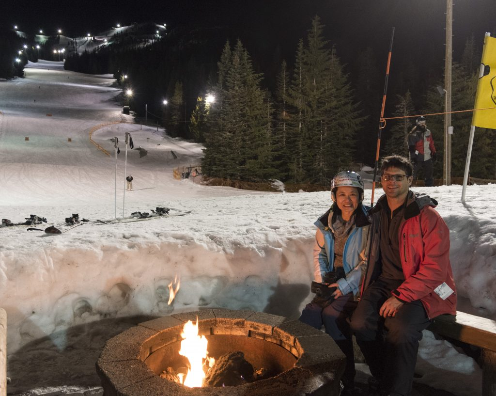 Fire Pit at Mt. Hood Skibowl West, February 2017
