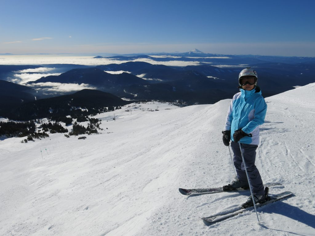 Upper mountain at Mt. Hood Meadows, February 2017