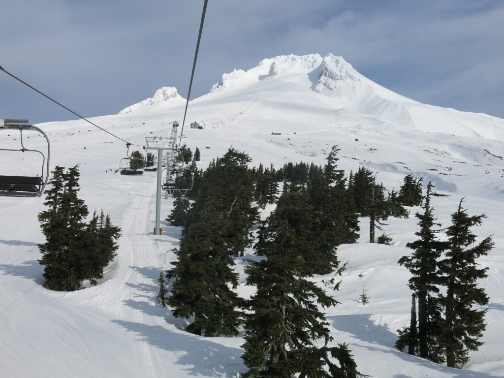 Miracle Mile chair at Timberline, February 2017