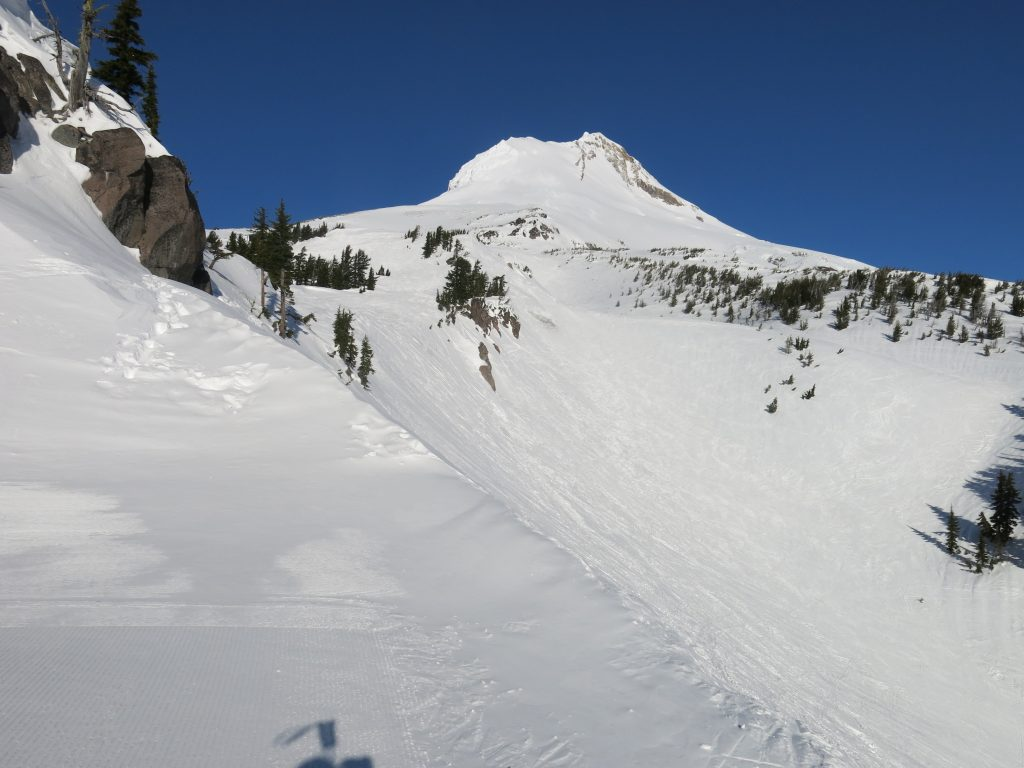View of Mt. Hood from Mt. Hood Meadows, February 2017