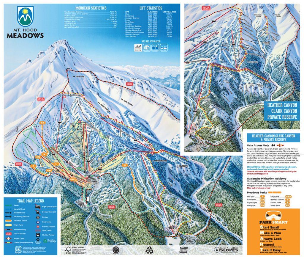 Mt. Hood Meadows trail map
