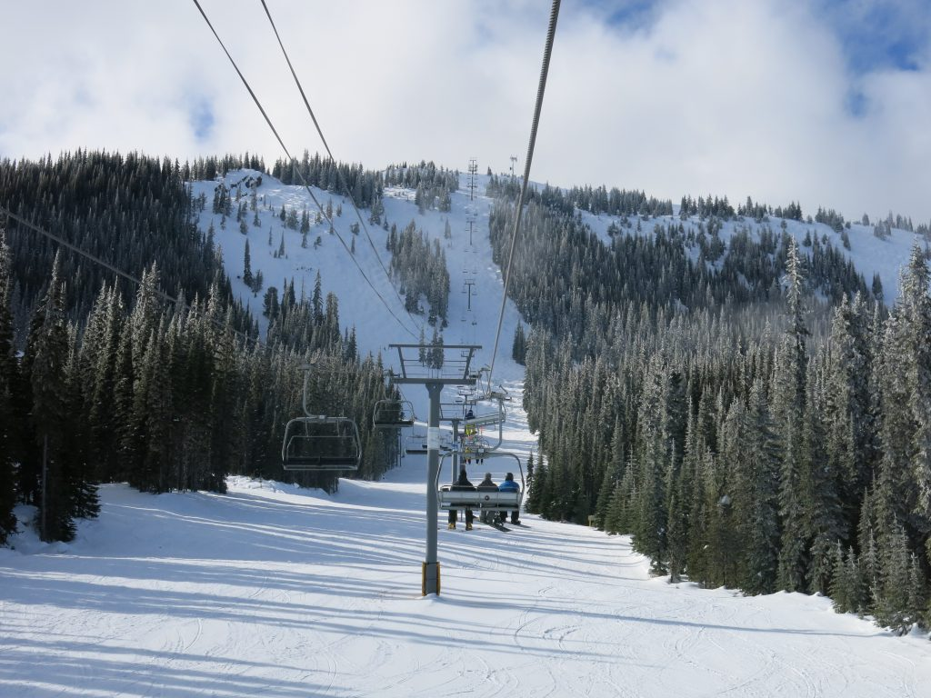 Quickdraw chair at Apex Mountain, February 2017