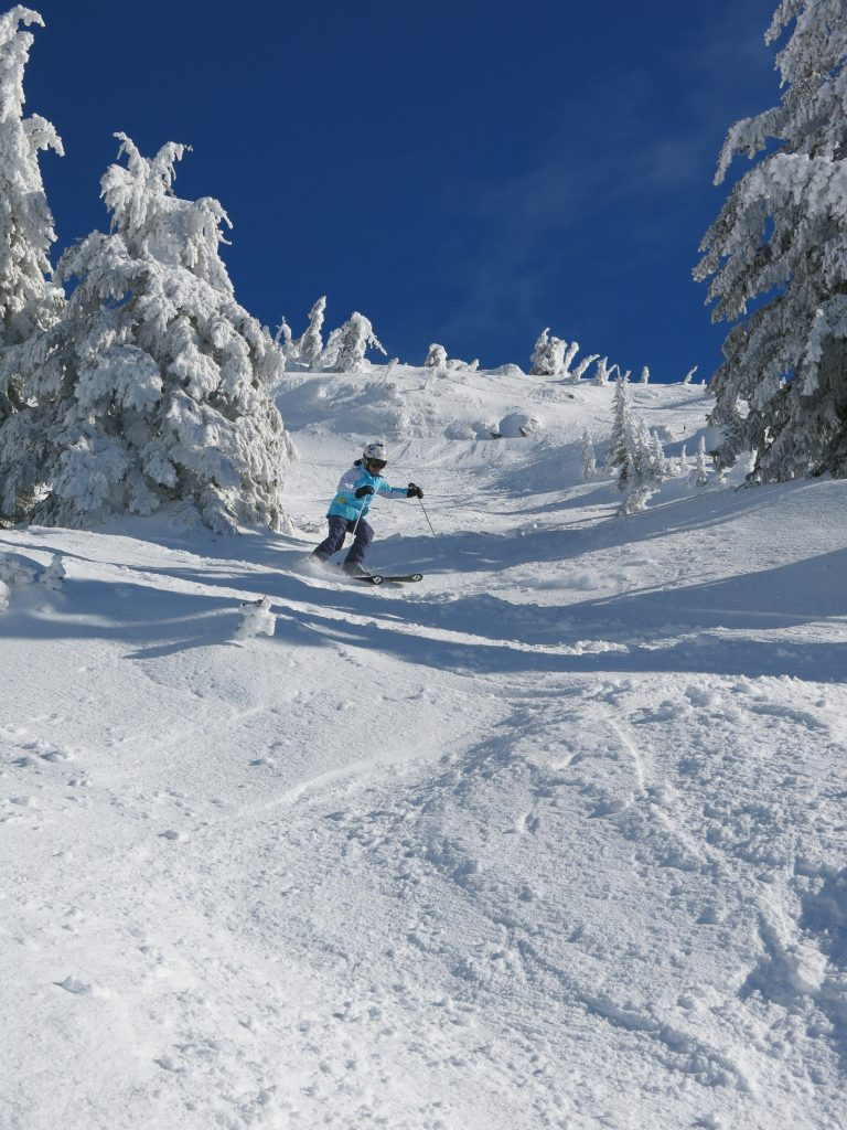 Upper mountain skiing at Big White, February 2017