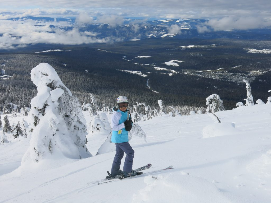 More upper mountain skiing at Big White, February 2017