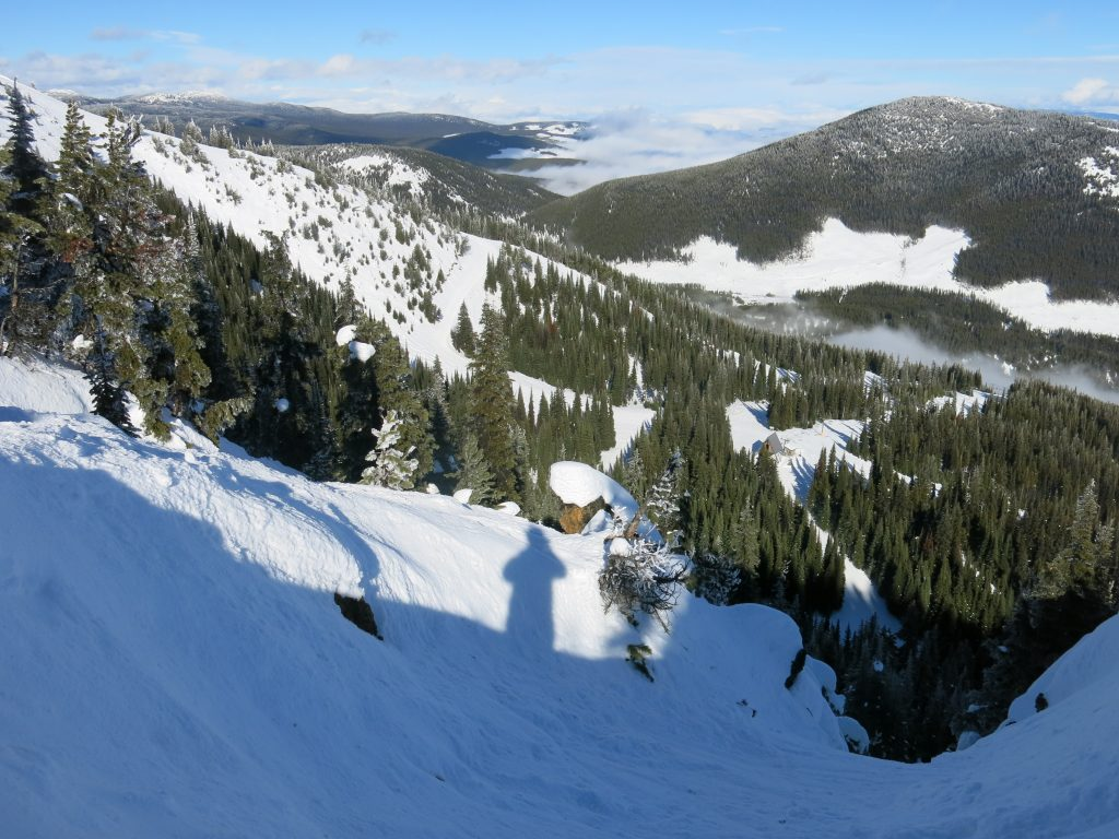 Top of Tooth/Tusk at Apex Mountain, February 2017
