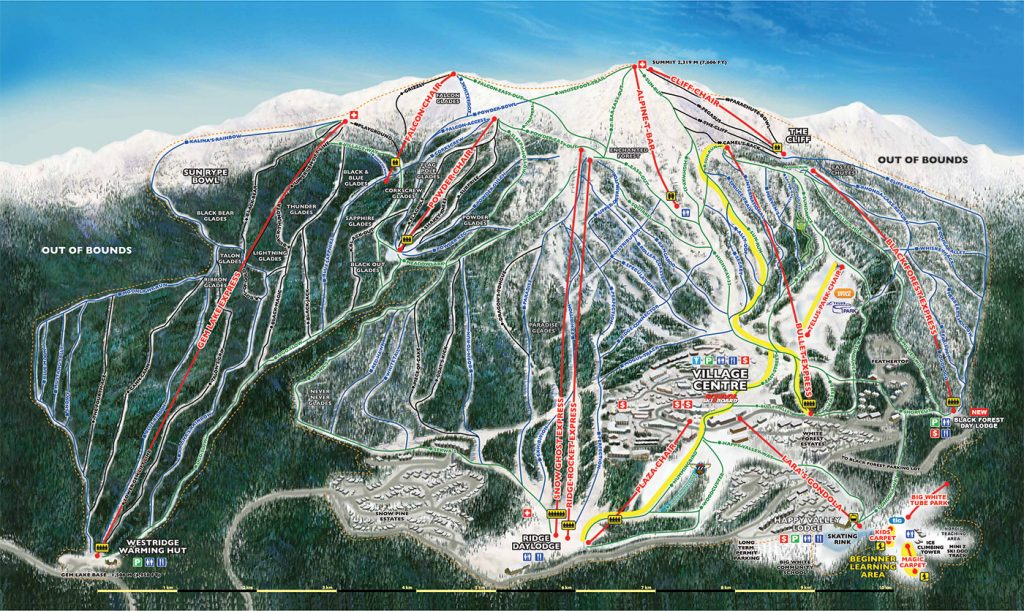 2016/2017 Big White trail map