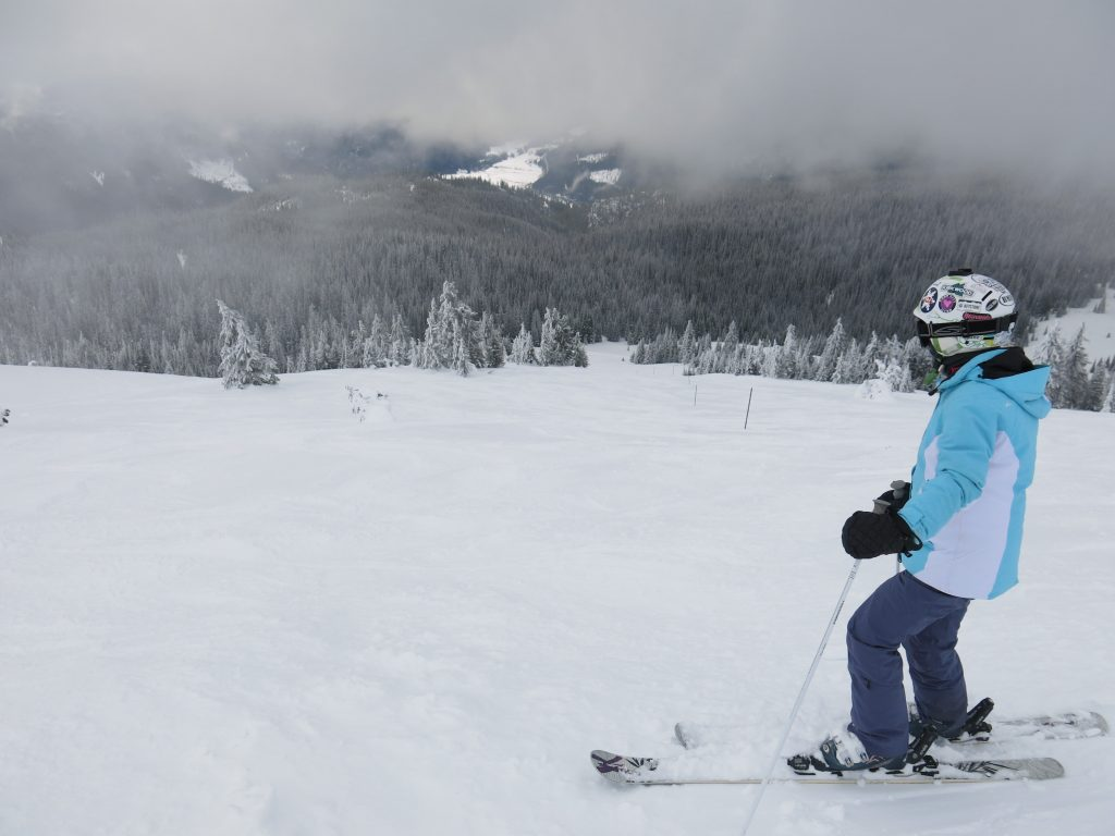Open terrain at the top of Mt. Todd at Sun Peaks, February 2017
